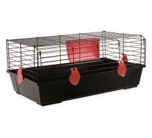 Klec SMALL ANIMAL Ludvík černá s červenou výbavou 1ks