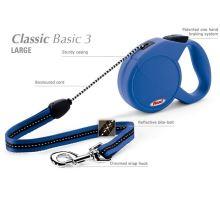 Vodítko FLEXI Classic 3 (L) 5m/50kg Lanko Modrá