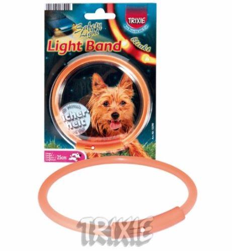 Obojek blikací Light Band Oranžový 58cm (XL)