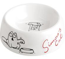 Flamingo Miska pro psy Simon's Cat plastová bílá 14,5cm
