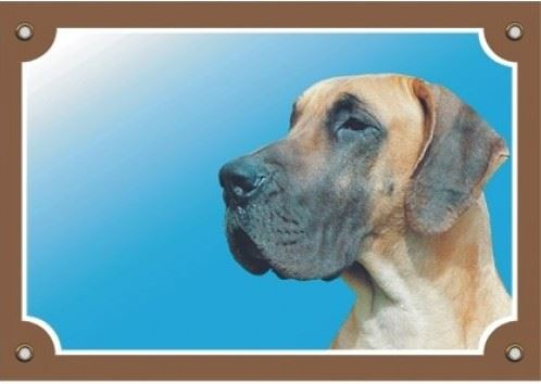 Barevná cedulka Pozor pes Doga německá