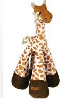 Hračka pro psy Žirafa pískací plyšová 33cm