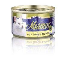 Miamor Cat Filet konzerva tuňák+křepelčí vejce 100g