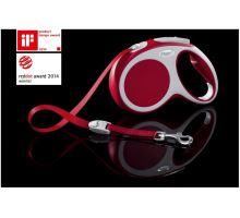 Vodítko FLEXI VARIO Pásek M 5m/25kg červená