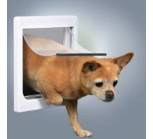 Průchozí dvířka pro psy XS-S dvoucestné 25 x 29 cm