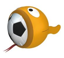 Hračka neopren míč OZZY 23cm
