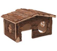 Domek SMALL ANIMAL dřevěný jednopatrový 28,5 x 19,5 x 16,5 cm 1ks