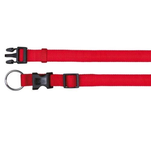 Nylonový obojek CLASSIC 40-65cm / 25mm (L-XL) - červená VÝPRODEJ