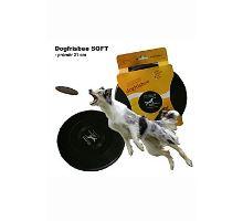 Létající talíř Dr.Dog SOFT 21cm ČERNÝ