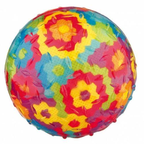 Házecí různobarevný míč se zvukem,termoplast.guma TPR 8 cm