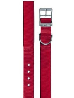 Obojek nylon DAYTONA C červený 45cmx25mm  VÝPRODEJ
