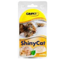 Gimpet kočka konz. ShinyCat tuňák/kuře 2x70g