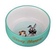 Keramická miska Honey-Hopper pro morče, králíka 250ml/11cm VÝPRODEJ