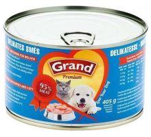 GRAND konz. štěně,kočka Delikates mas.směs 405g