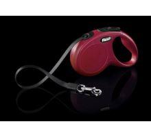Vodítko FLEXI New Classic S pásek 5m červená