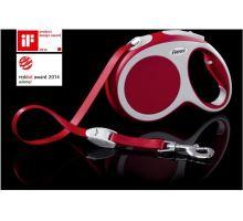 Vodítko FLEXI VARIO Pásek L 5m/50kg červená