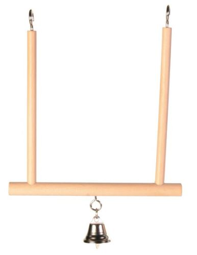 Dřevěná houpačka se zvonkem 12x13cm TRIXIE