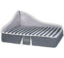 MY PRINCE plyšová sofa-pohovka šedá 60x32x45 cm
