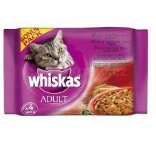 Whiskas kapsa Menu z tm. masa ve šťavě 4x100g