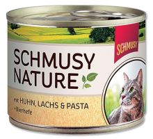 Schmusy Cat Nature Menu konzerva kuře+losos 190g