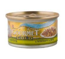 Gourmet Gold konzerva kočka s králíkem a játry 85g