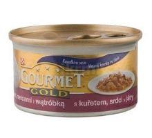 Gourmet Gold konzerva kočka  s kuřetem, srdcem, játry 85g