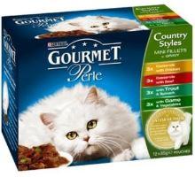 Gourmet Gold konzerva kočka kousky masa ve šťávě Multi 4x85g