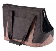 Přepravní taška HAILEY 22x31x45 cm šedo/růžová