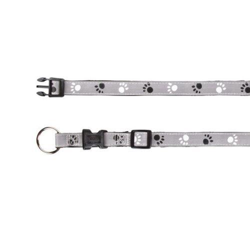 Reflexní obojek SILVER REFLECT ML 35-55 cm / 20 mm