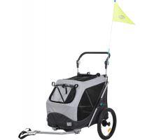 Vozík za kolo, s funkcí rychlého skládání S 58 x 93 x 74/114 cm šedý