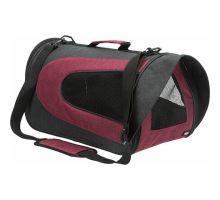 ALINA nylonová přepravní taška se síťkou 27x27x52 cm, - antracit/bordó max.5 kg