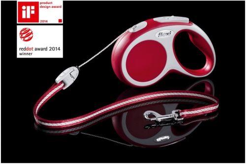 Vodítko FLEXI VARIO Lanko XS 3m/8kg červená