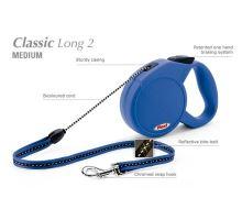 Vodítko FLEXI Classic Long 2 7m/20kg Lanko Modrá VÝPRODEJ