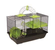 Klec SMALL ANIMAL Patrik černá se zelenou výbavou 1ks