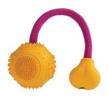 Dentální mátový míček s růžovým lanem HipHop