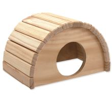 Domek SMALL ANIMAL Půlkruh dřevěný 24 x 17 x 15 cm 1ks