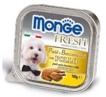 MONGE FRESH - paštika a kousky s kuřecím 100 g pro psy