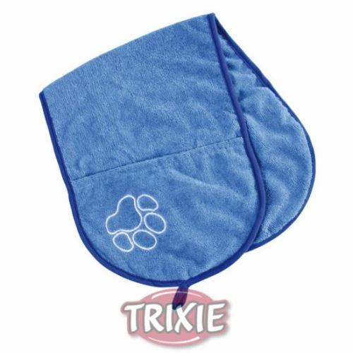 Vysoušecí šál s kapsami - modrý 93x28cm