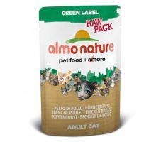 Almo Cat Nat.kočka kaps Green Lab. Raw kuřecí prsa 55g