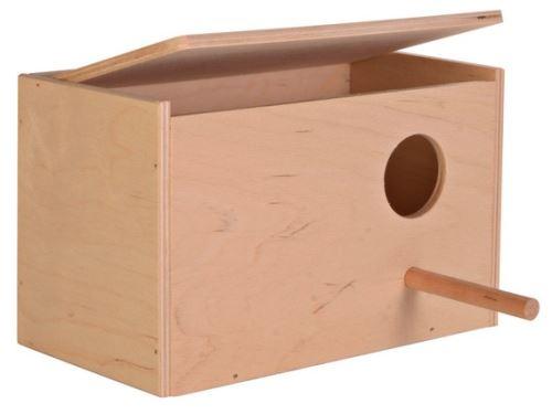 Hnízdící budka pro andulky 21x13x12 cm