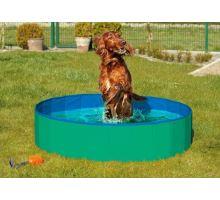 Skládací bazén pro psy zeleno/modrý 160x30cm