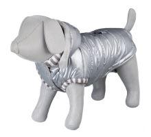 Lesklá bundička DOG PRINCE štříbrná