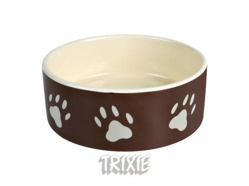 Miska keramická pes hnědá 1,4 l / 20cm