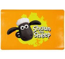 Ovečka Shaun prostírání pod misky s hlavou,oranžová  44x28cm