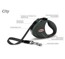 Vodítko FLEXI CITY Pásek 2m/35kg tmavě šedá
