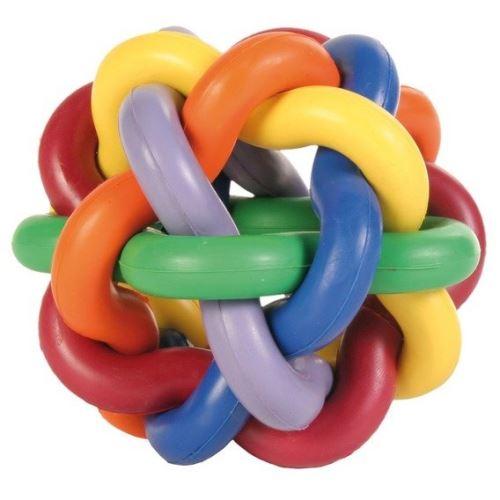 Míč tvrdá guma uzlíkový 10cm