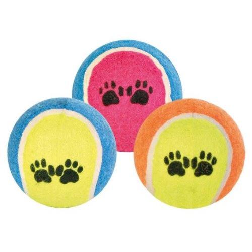 Tenisový míč barevný s tlapkami 10cm