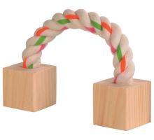 Bavlněný most s dřevěnými kostkami 20cm pro hlodavce