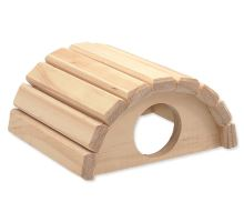 Domek SMALL ANIMAL Půlkruh dřevěný 16,5 x 15 x 8 cm 1ks