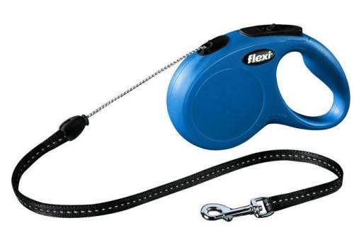 Vodítko FLEXI New Classic S lanko 5m Modrá
